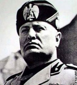 """Benito Mussolini, otherwise known as """"Il Duce""""."""