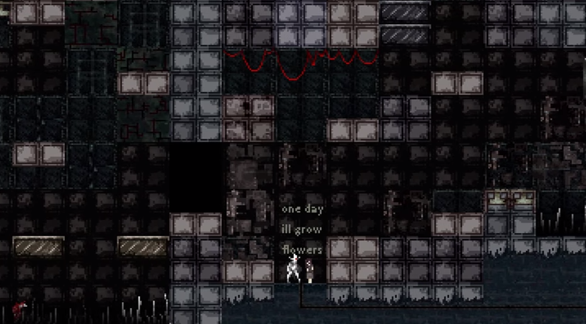 The girl at the bottom of the pit. Screencap taken from gameplay footage.