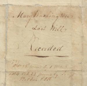 Mary Washington's Will