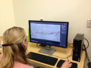 Digital Resources Librarian Suzanne Chase zooms in on Mary Washington's signature