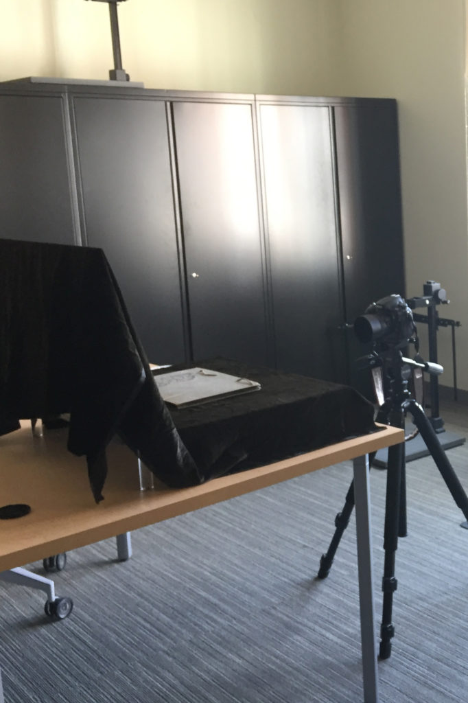 Image of pop-up photography studio.